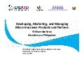 Developing Marketing and Managing Microinsurance 2