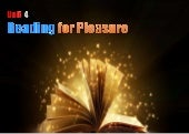 SK5 / U.4 - Reading for Pleasure