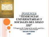 Tendencias universitarias y sociale...