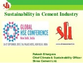Sustainability in Cement Industry |...
