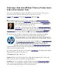 Performance Tools from HP Help IT Services Provider Savvis Scale to Meet Customer Needs