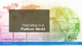 Operating in a Platform World - DPSE, 10/6/15