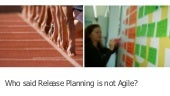 Who says release planning is not agile - Vered Yeret at Agile Israel 2015