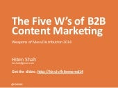 The 5 W's of B2B Content Marketing