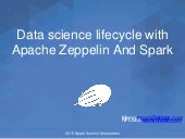 Data Science lifecycle with Apache Zeppelin and Spark by Moonsoo Lee
