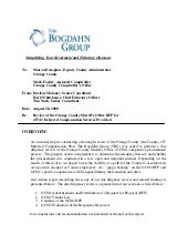 The Bogdahn Group Report to Orange ...
