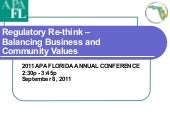 9/8 THUR 14:30 | Regulatory Re-think