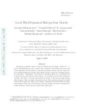 Local Fluid Dynamical Entropy from ...