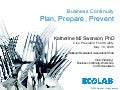 Business Continuity: Plan, Prepare, Prevent