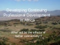0805 developing cpd in africa w pictures