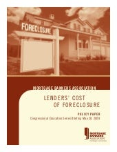 Mortgage Banker Foreclosure Update