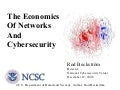 Economics Of Networks - Rod Beckstrom, National Cybersecurity Center, Department of Homeland Security