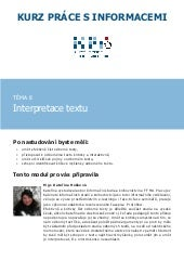 Interpretace textu