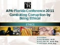 9/9 FRI 9:30 | Combating Corruption By Being Ethical 1