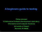 A beginners guide to testing