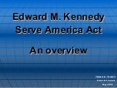 Serve America Act Overview