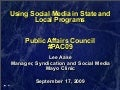 Public Affairs Council Social Media Presentation