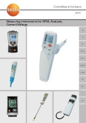 Testo - Measuring Instruments for R...