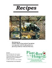 Plant a Row for the Hungry - Cookin...