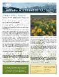 Fall 2009 Nevada Wilderness Project Newsletter
