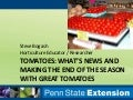 High tunnel tomato updates: varieties, pest management, nutrition, 2015