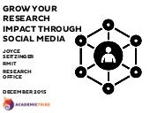 Workshop: Grow your research impact - RMIT University