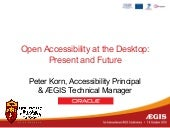 Open accessibility at the desktop -...