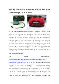 NearbyExpress's Answers to Pros and Cons of Car Headlight Kits in 2011