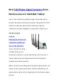 Best Cell Phone Signal Jammers from Hootoo.com are Available Today!