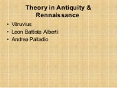 theory in antiquity & rennaissance