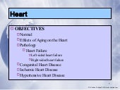 1. heart pathology; heart failure