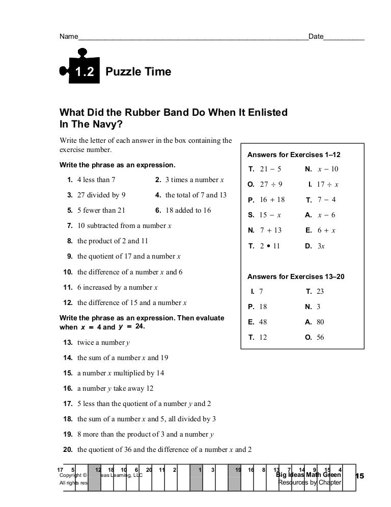Printables Puzzle Time Math Worksheets 1 2 puzzle time