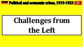 1. challenges from the left