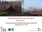 Political Economy Study of Fire and Haze in Indonesia