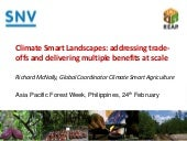 Climate Smart Landscapes: addressing trade-offs and delivering multiple benefits at scale