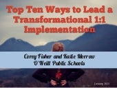 Top Ten Ways to Lead a Transformational 1:1 Implementation