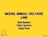 1.3 Model Animal Welfare Law - Mike Radford and Chris Laurence