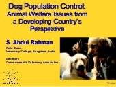 Dog Population Control: Animal Welf...