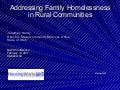 1.6: Addressing Family Homelessness in Rural Communities