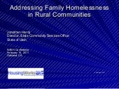 1.6: Addressing Family Homelessness...