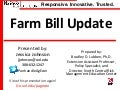 Update on Farm Bill Deliberations, January 2014