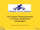 1.8 Forward Thinking Approach in Training, Handling and Rehabilitation - Sarah Fisher