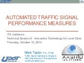 Automated Traffic Signal Performance Measures