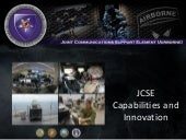 The Capabilities and Innovations of Joint Communications Support Element (JCSE): TechNet Augusta 2015