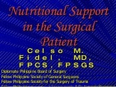 1. Nutritional Support In The Surgi...