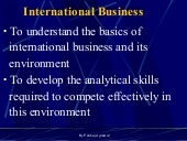 1. Overview Of Global Business