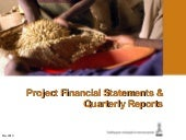 project financial statements and qu...