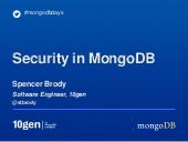 Security Features in MongoDB 2.4