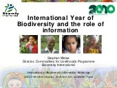 International Year of Biodiversity ...