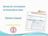 Semantic annotation of biomedical data
